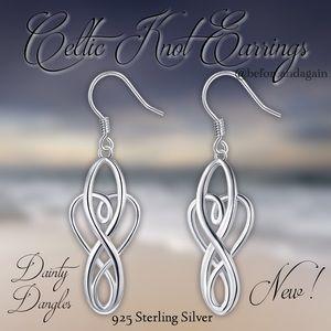 Jewelry - Celtic Knot Sterling Silver Earrings New!